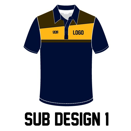 sub design1 - Sublimated Cricket Polo