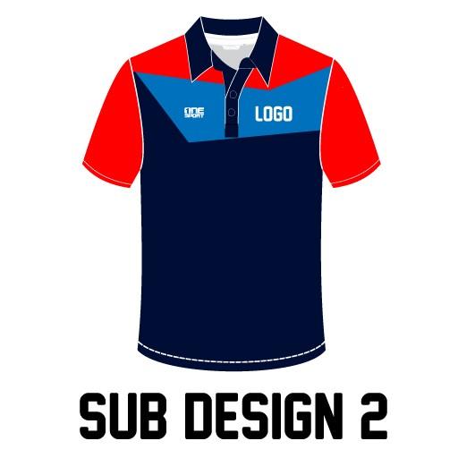 sub design2jpg - Sublimated Cricket Polo