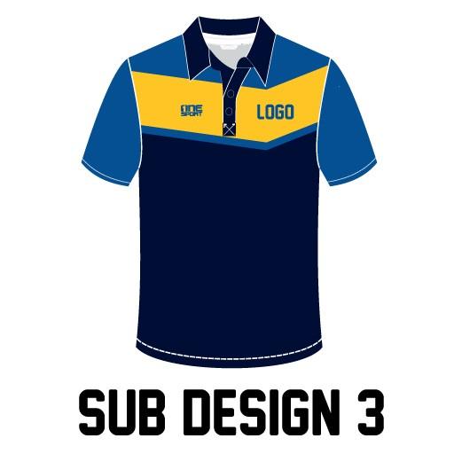 sub design3 - Sublimated Cricket Polo
