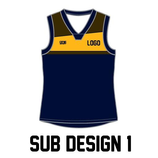 sub vest1 - Sublimated Reversible Cricket Vest