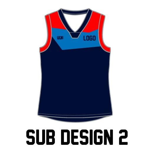 sub vest2 - Sublimated Reversible Cricket Vest