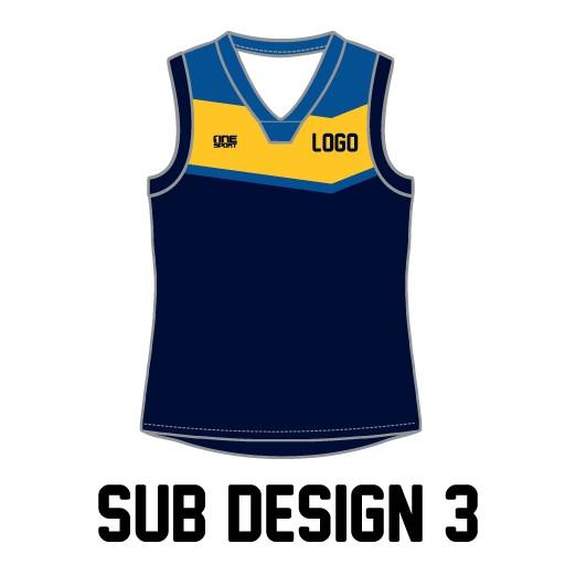 sub vest3 - Sublimated Reversible Cricket Vest