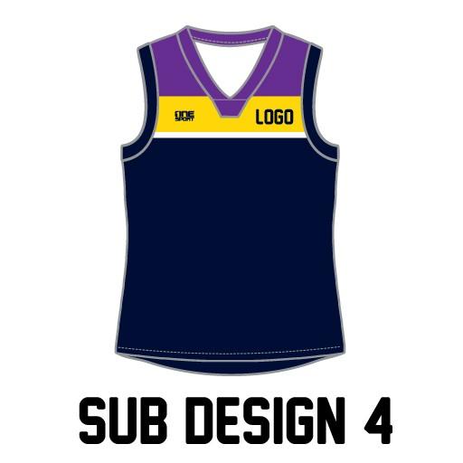 sub vest4 - Sublimated Reversible Cricket Vest