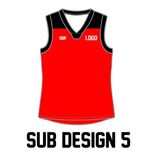 sub vest5 - Sublimated Reversible Cricket Vest