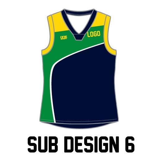 sub vest6 - Sublimated Reversible Cricket Vest