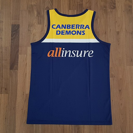 demons sub singlet back - TEAMWEAR AFL