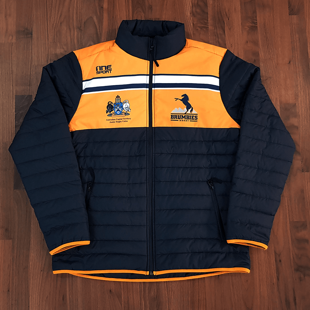 brumbies puffy front - Custom Puffer Jacket and Vest