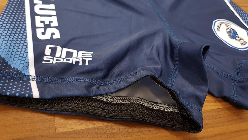 lycra short detail - TEAMWEAR NETBALL