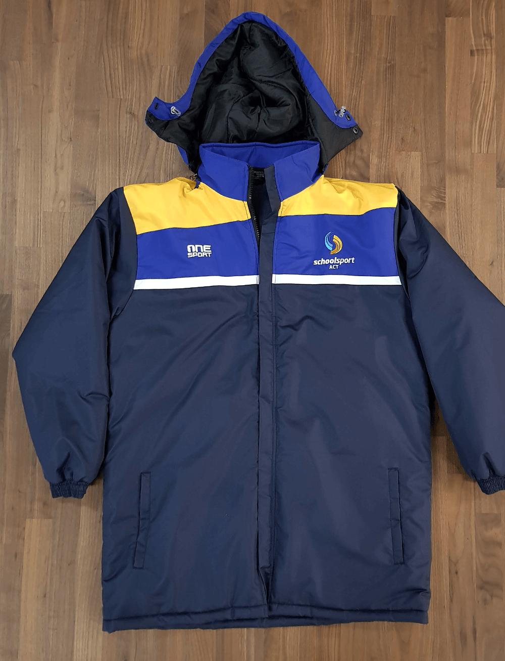 school sport parka front - Custom Parka Jackets