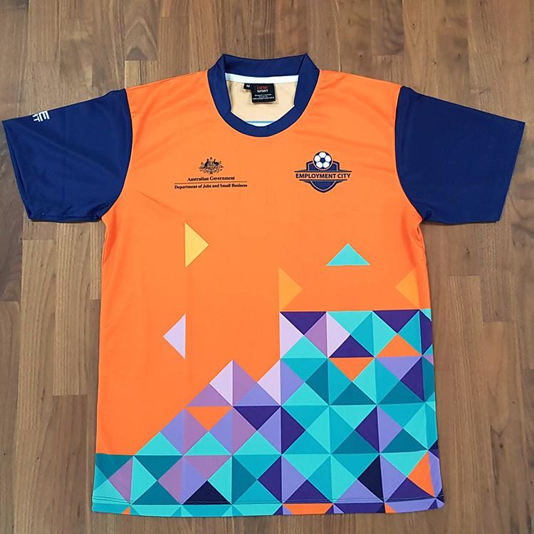 Aust Gov Soccer Tee front - Custom Tees and Singlets