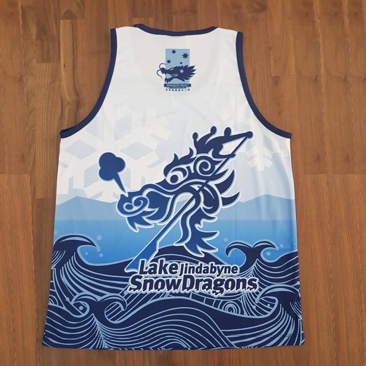 snow dragons singlet back - Custom Tees and Singlets