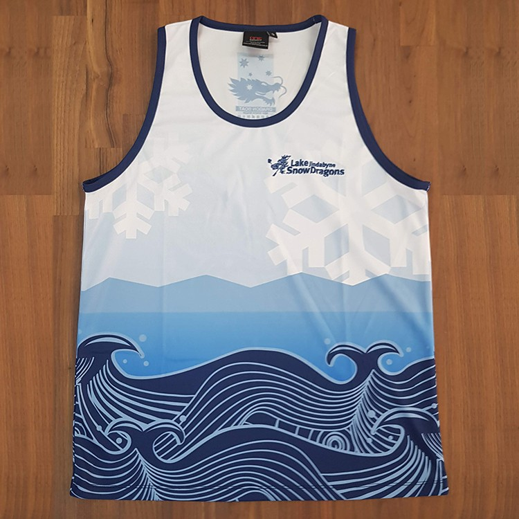 snow dragons singlet front - Custom Tees and Singlets