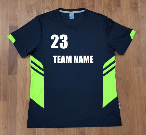 tee with team name and number