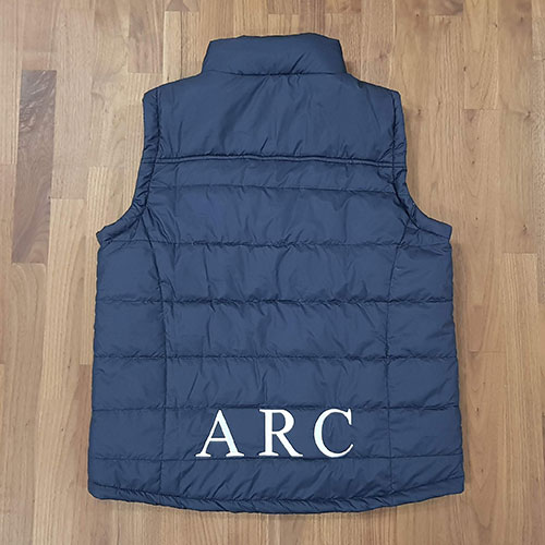 adfa rugby puffer vest back - Custom Puffer Jacket and Vest