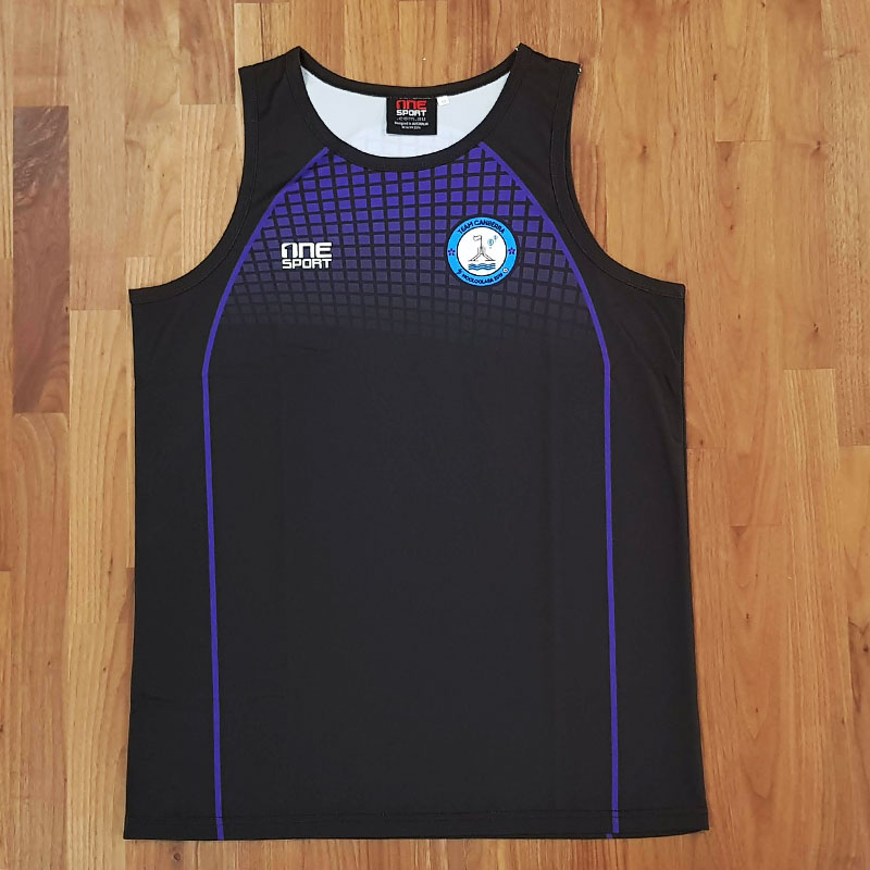 canberra tax singlet front - Custom Tees and Singlets