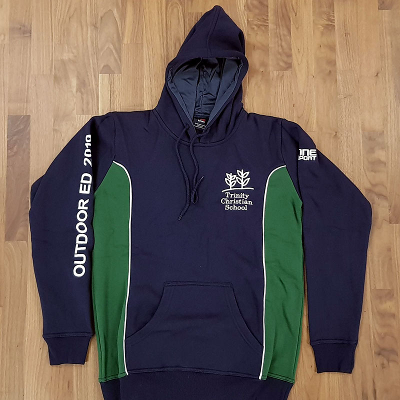 trinity hoodie front - School Leavers